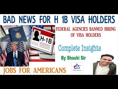 Trump signs executive order against hiring H 1B visa holders for ...