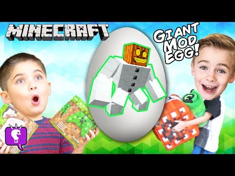 Giant MINECRAFT Mod Egg with Gameplay by HobbyKidsTV