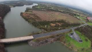 DJI FPV drone flight over Blue Marsh Lake
