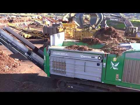 Komptech Crambo 6000 Shredder Processing Green Waste