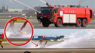「隊員も飛ばせる消防車ストライカーの放水力」陸上自衛隊 明野駐屯地航空祭2015