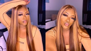 BOMB Brown And 🍯 Highlights Wig & Styles | Unice Hair