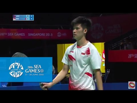 Badminton Men's Team Singapore Vs Laos PDR  Match 1 (Day 5) | 28th SEA Games Singapore 2015