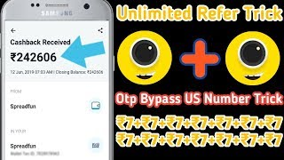 4fun Unlimited Trick | 😱Otp Bypass Trick | US Number Trick | Live Refer Bypass