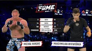 "FAME MMA 1: Michał Handke vs Maksymilian ""Wiewiór"" Wiewiórka (Cała Walka)"