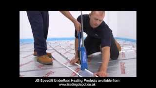 Installing JG Speedfit Underfloor Heating Using The Staple System