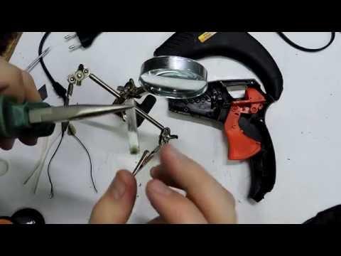 Как починить клеевой пистолет (Термоэлемент) Ремонт клеевого пистолета после КЗ.