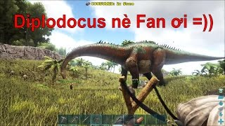 ARK: Survival Evolved Online #2 - Cùng bắt khủng long cổ dài Diplodocus =))