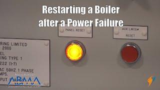 NFPA 85 Boiler Code   Boiler Restart After Power Failure