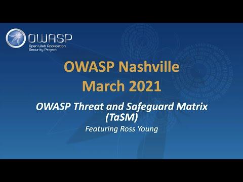 OWASP Threat and Safeguard Matrix (TaSM)