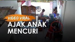 VIDEO: Aksi Ayah di Surabaya Ajak Putrinya Mencuri Ponsel di Tujuh Lokasi Berbeda