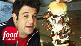 Can Adam Out-Eat His Competitor During The 5 Lb Eagle Challenge?   Man v Food