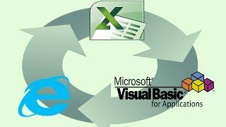 Use Excel & VBA to automate Internet Explorer -beginner