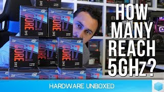 Overclocking Ten Core-i7 8700K CPUs [Part 2] The Retail Test