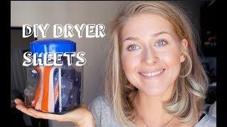Homemade Non-Toxic Reusable Dryer Sheets Recipe