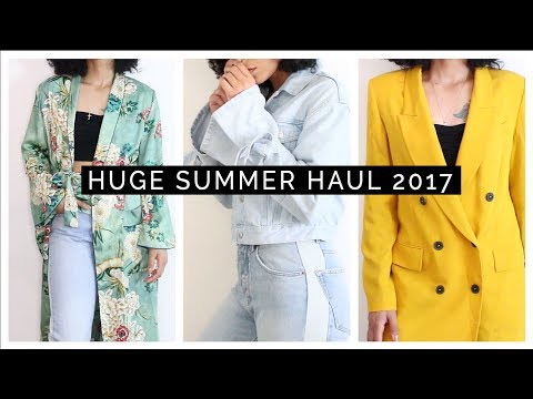 HUGE Summer Haul & Try-On 2017 || ASOS, Zara, Topshop, Reformation
