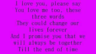 Celine Dion - I Love You Lyrics