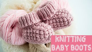 Knit Baby Booties / Baby Shoes