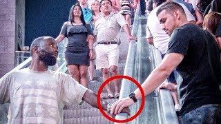HAND TOUCHING ON ESCALATOR PRANK IN LAS VEGAS! | PART 1