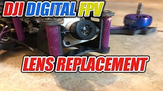 How to REPLACE The DJI FPV Camera Lense & Focus it.