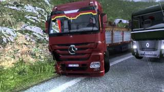 Разбили Мерс (accident smashed Mercedes Part-1) (Euro Truck Simulator 2)