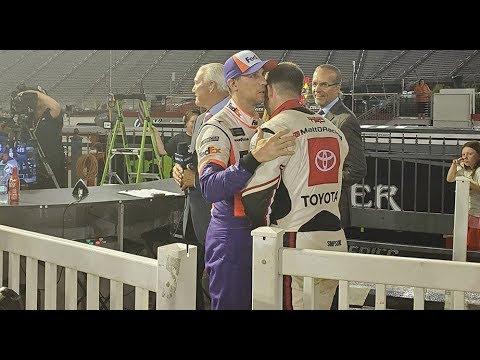 Hamlin, DiBenedetto share a moment in Victory Lane