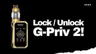 SMOK G-Priv 2 - How to Lock and Unlock the Firekey (Fix Firekey Locked)!