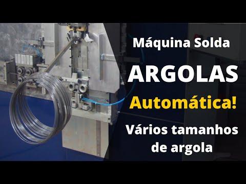 Máquina argola em arame com solda