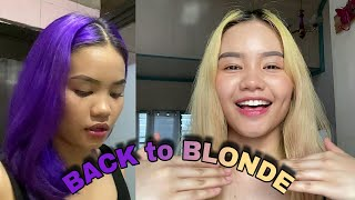 Removing my semi permanent dye without bleach | Back to blonde