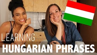 AMERICAN TRIES HUNGARIAN PHRASES   FEATURING HAJNI   LANGUAGE SERIES