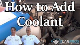HOW TO CHECK AND ADD COOLANT TO YOUR CAR WITHOUT GETTING BURNED!