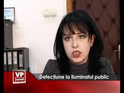 Defecţiune la iluminatul public