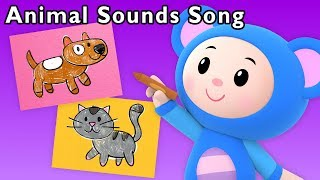 Animal Sounds Song + More   Learn English with Art Mouse   Mother Goose Club Phonics Songs