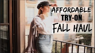 TRY-ON AFFORDABLE FALL CLOTHING HAUL!