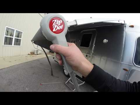 The Airstream Zip Dee Awning Demonstration