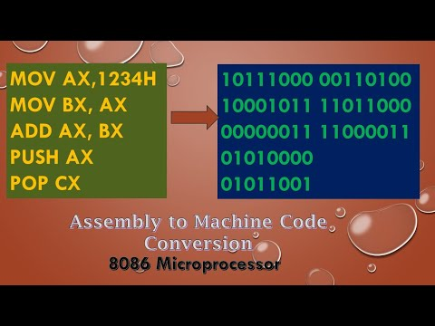 Assembly language  to Machine Code Conversion in 8086 || Basic Understanding of Instruction  format