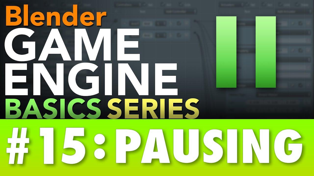 Blender Game Engine Basics Tutorial #15 : PAUSING #b3d #gamelogic