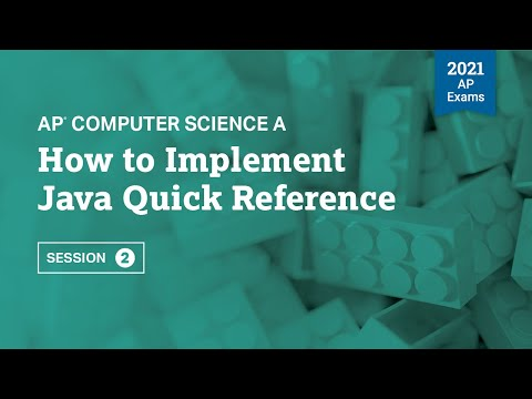 How to Implement Java Quick Reference | AP Computer Science A