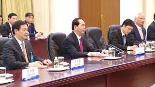 Chủ tịch nước Trần Đại Quang hội kiến Thủ tướng Trung Quốc Lý Khắc Cường