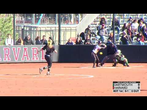 Softball Sweeps Doubleheader From Dartmouth - Harvard