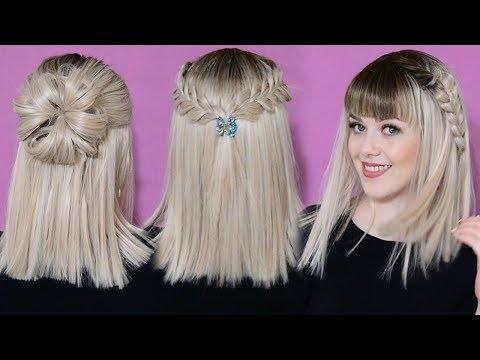 3 Прически на короткие волосы ! 3 Easy Hairstyles for SHORT Hair