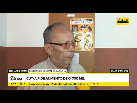 CUT-A pide aumento de G. 700.000