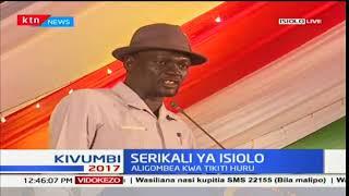 Josphat Nanok baada ya kushuhudia kuapishwa kwa gavana wa Isiolo