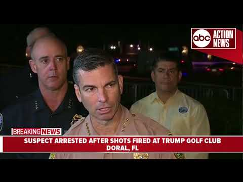 Police: Person arrested after shots fired at Trump golf club | Press Conference (5.18 | 5AM)