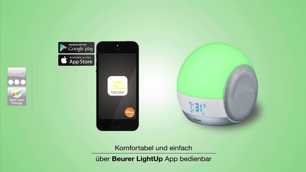 4-in-1 | bluetooth | Bluetooth | LightUp | mood light | music station | reading lamp | schlaf und erholung | Schlaf und Erholung | sleep | Sleep | Therapy | Wake-up light |