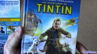 Digibook The Adventures of Tintin blu-ray Region FREE Import Spain BIGGER SIZE