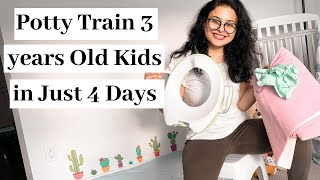 How To Potty Train 3 Year Old Boys & Girls IN JUST 4 DAYS | Potty Training Tips For A 3-Year-Old