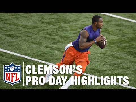 Clemson Pro Day: Deshaun Watson and Mike Williams Highlights & Mike Mayock's Analysis | NFL