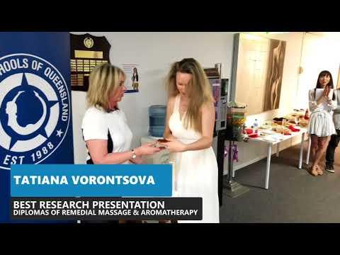 Massage Schools of Queensland - December 2017 Graduation - Award Winners