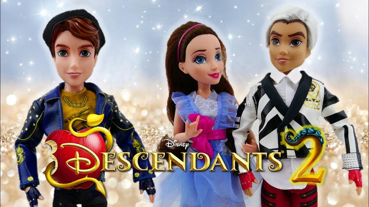 Disney Descendants 2 Movie King Ben and Jane and Carlos New Dolls Review